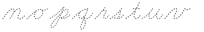 Dot To Dot Cursive Font LOWERCASE