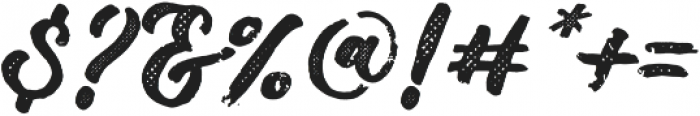 DrusticDialy Script Halftone otf (400) Font OTHER CHARS