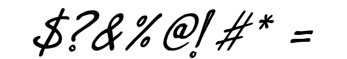 Dr.Marz Italic Font OTHER CHARS