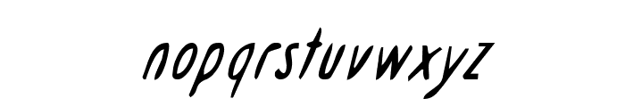 Drafting Table CondItalic Font LOWERCASE