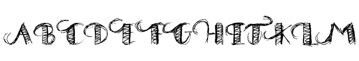 Drawing Practice Font UPPERCASE