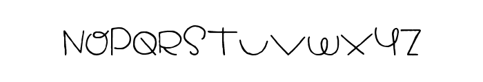 Dreamed About You Font UPPERCASE