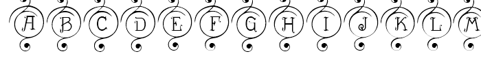 Drianh Decorative 1 Font UPPERCASE