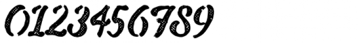 Drustic Dialy Script Halftone Font OTHER CHARS