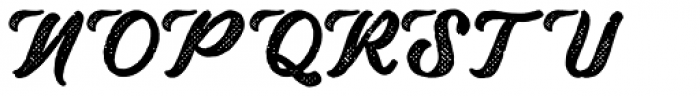 Drustic Dialy Script Halftone Font UPPERCASE