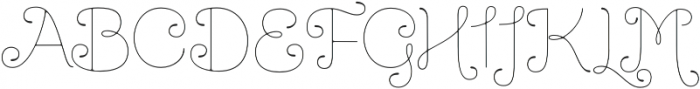 Dulce Regular otf (400) Font UPPERCASE