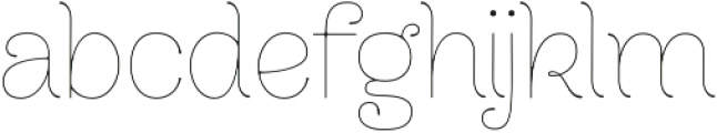 Dulce Regular otf (400) Font LOWERCASE
