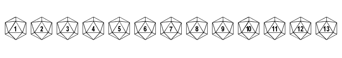 Duodecahedron Font LOWERCASE