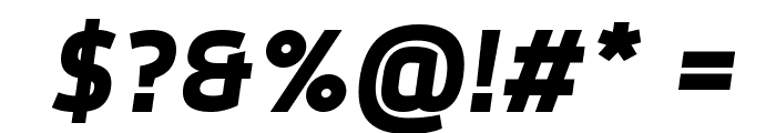 Dyno Bold Italic Font OTHER CHARS