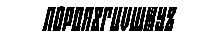 EAST-west Condensed Italic Font UPPERCASE
