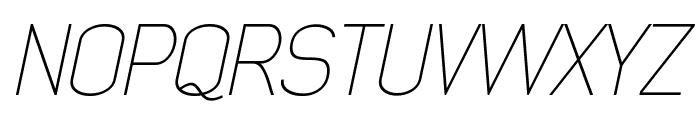 Early Times Thin Demo Italic Font UPPERCASE