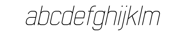 Early Times Thin Demo Italic Font LOWERCASE