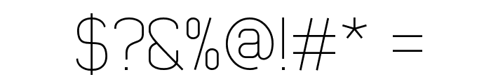 Early Times Thin Demo Font OTHER CHARS