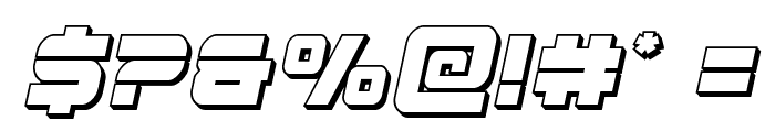 Edge Racer 3D Italic Font OTHER CHARS
