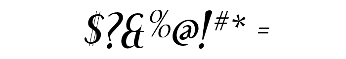 Effloresce-Italic Font OTHER CHARS