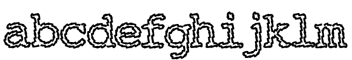 Electric Hermes AOE Charge Font LOWERCASE