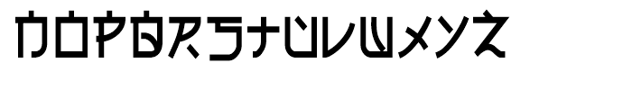 Electroharmonix Regular Font LOWERCASE