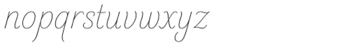 Elicit Script Extra Light Casual Font LOWERCASE