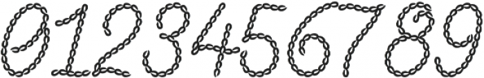 Embroidery Chain Cursive otf (400) Font OTHER CHARS