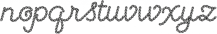 Embroidery Chain Cursive otf (400) Font LOWERCASE