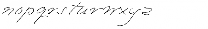 Emily In White II Font LOWERCASE