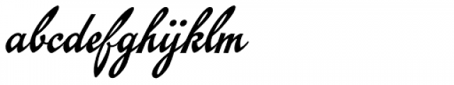 Emiral Script Font LOWERCASE
