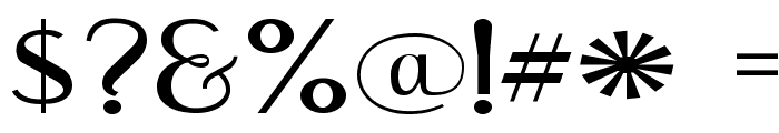 Engebrechtre Expanded Font OTHER CHARS