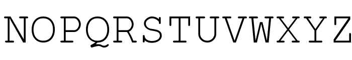 English-Russian Courier Font UPPERCASE