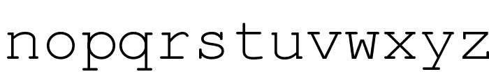 English-Russian Courier Font LOWERCASE