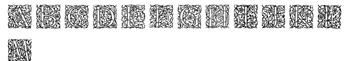 English Arabesque Revival 1900 Font UPPERCASE
