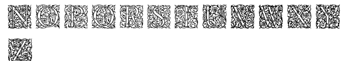 English Arabesque Revival 1900 Font LOWERCASE