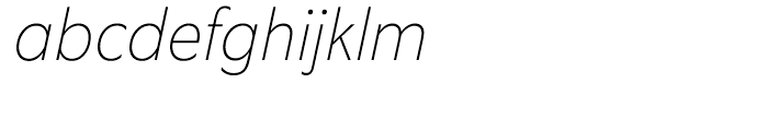 Equip Condensed Thin Italic Font LOWERCASE