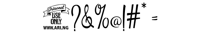 Esplanade Script PERSONAL USE Font OTHER CHARS