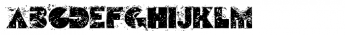 Escape From Budapest Corrupt Font LOWERCASE