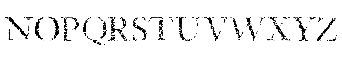 Etched Font UPPERCASE