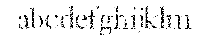Etched Font LOWERCASE