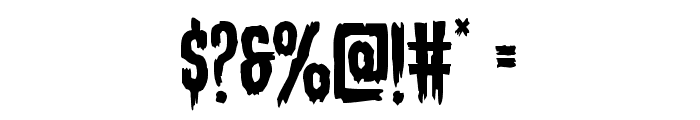 Eva Fangoria Staggered Font OTHER CHARS