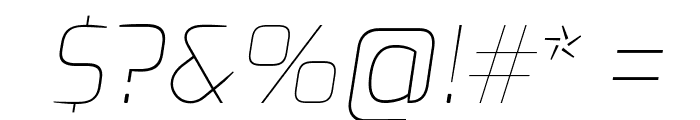 Exo Thin Italic Font OTHER CHARS