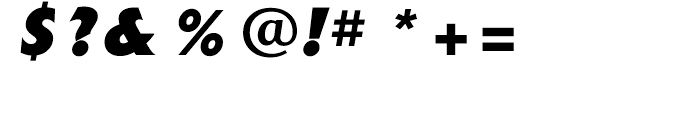 Extension Extra Bold Italic Font OTHER CHARS
