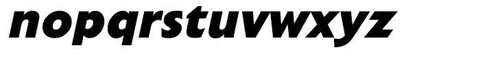 Extension Extra Bold Italic Font LOWERCASE