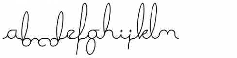 Expletive Script Light Slant Alternate Font LOWERCASE