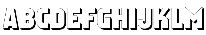 Faktos Shadow Font UPPERCASE