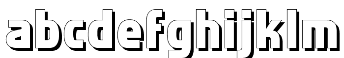 Faktos Shadow Font LOWERCASE