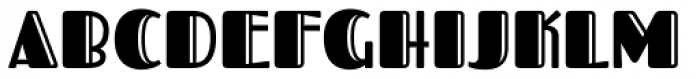 Fascinate Pro Inline Font UPPERCASE