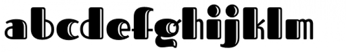 Fascinate Pro Inline Font LOWERCASE