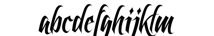 Feathergraphy Clean Font LOWERCASE