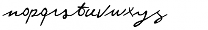 Federico Handwriting Font LOWERCASE
