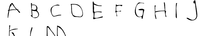 FF Childs Play Age Five Regular Font UPPERCASE