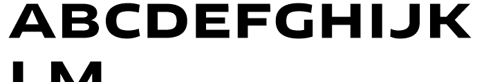 FF Clan Extended Bold Font UPPERCASE