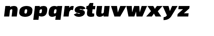 FF Good Extended Ultra Italic Font LOWERCASE